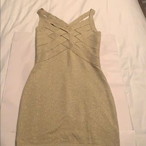 Charlotte Russe gold body con dress